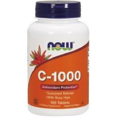 NOW Vitamina C-1000 cu eliberare prelungita - 100 Tablete