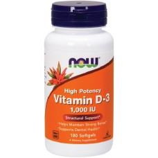 NOW Vitamina D-3 1000 IU - 180 Softgels