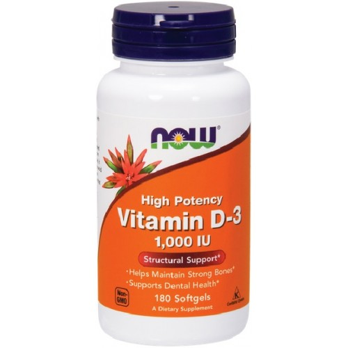NOW Vitamina D-3 1,000 IU - 180 Softgels