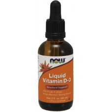 NOW Vitamina D-3 Lichida 100 IU/picatura - 60ml