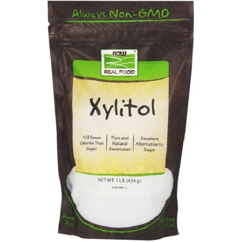 NOW Xylitol Indulcitor Natural - 454g