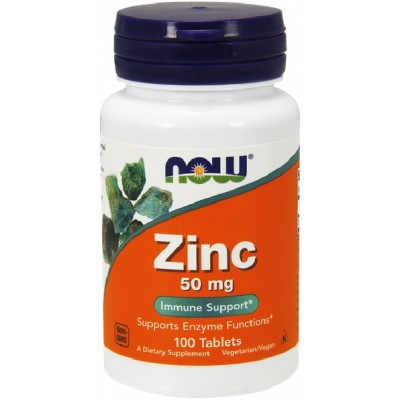 NOW Zinc Gluconat 50mg - 100 Tablete
