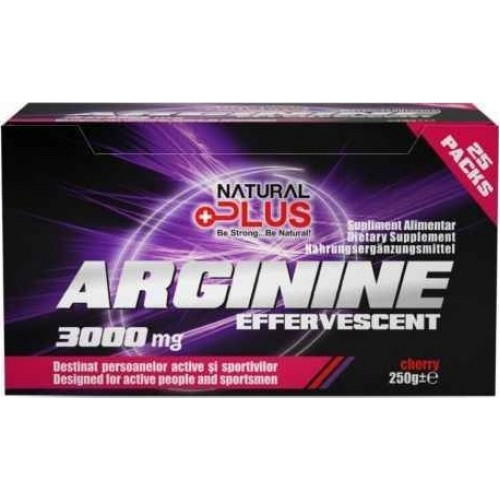 Natural Plus Arginina Efervescenta 3000mg - 25 plicuri/cutie