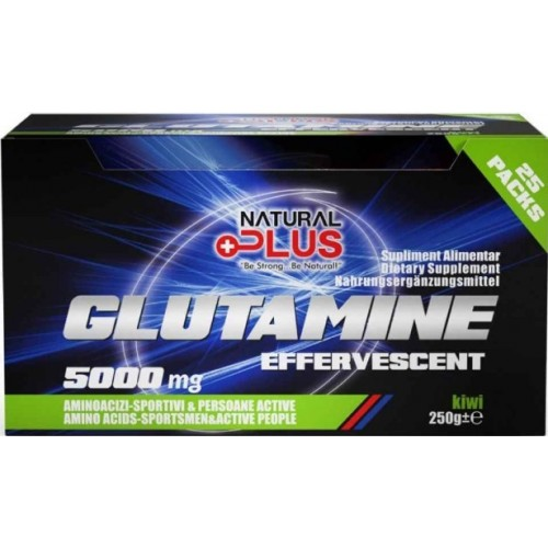 Natural Plus Glutamina Efervescenta 5000mg - 25 plicuri/cutie