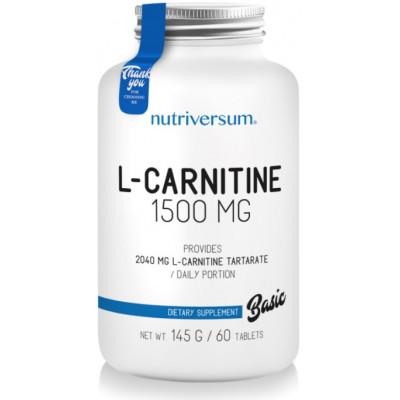 Nutriversum L-Carnitina 1500mg - 60 Tablete