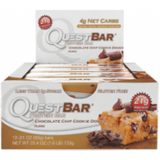 Quest Bar Chocolate Chip Cookie Dough 60g - 12 buc/cutie