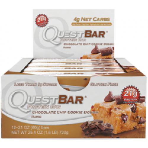 Quest Bar Chocolate Chip Cookie Dough 60g - 12 buc/cutie
