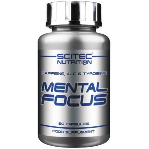 Scitec Mental Focus cu Acetyl L-Carnitine, Tirozina si Cafeina - 90 Capsule