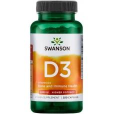 Swanson Vitamina D-3 2000 IU - 250 Capsule