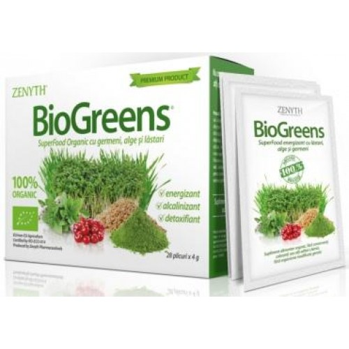 Zenyth BioGreens - 28 plicuri x 4g