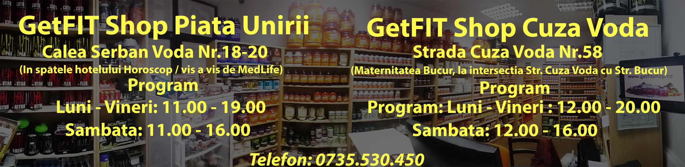 Magazine GetFit Shop Bucuresti