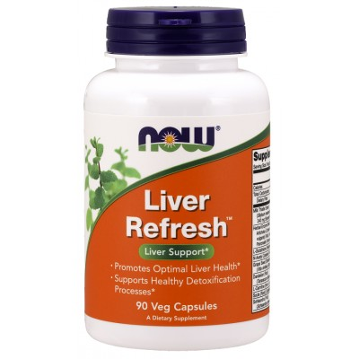 NOW Liver Refresh, detoxifiere si regenerare ficat - 90 Capsule vegetale